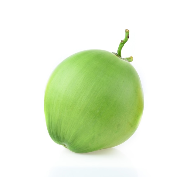 Green coconut isolated on white background
