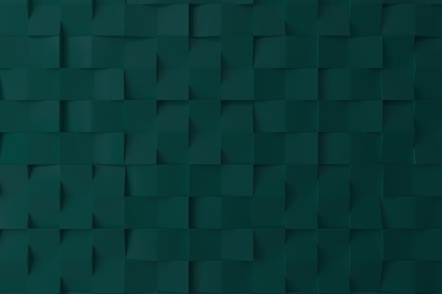 Green color 3d wall for background