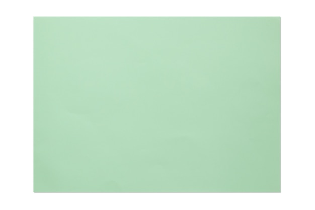 緑色の空白の4a紙は、白い背景で隔離。