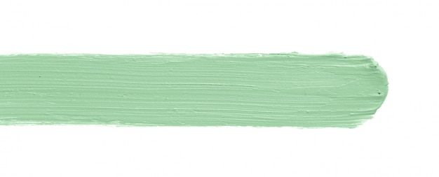 Green color correcting concealer stroke isolated