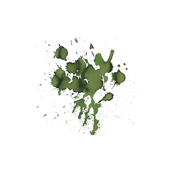 Green color watercolor splash abstract hand drawn background.