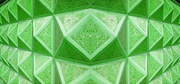 Уменьшение перспективы архитектурных линий в зеленом цвете