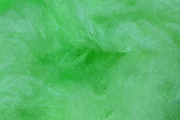 Green cotton candy background