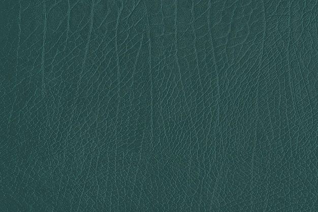 Green creased leather textured background