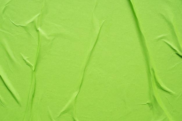 녹색 구겨진 구겨진 종이 포스터 질감 배경