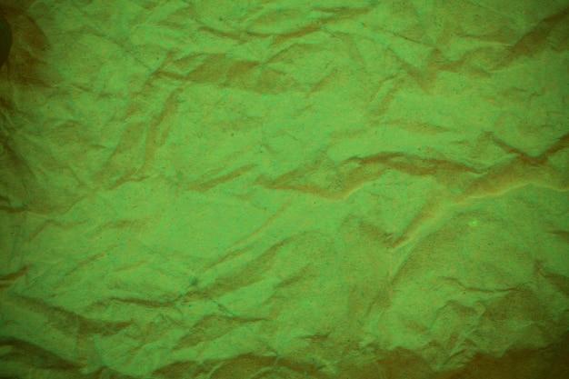녹색 구겨진된 종이 배경.