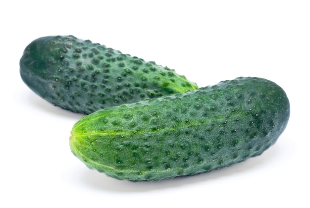 Green cucumber isolated
