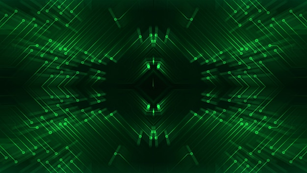 Green cyber circuit future technology concept background