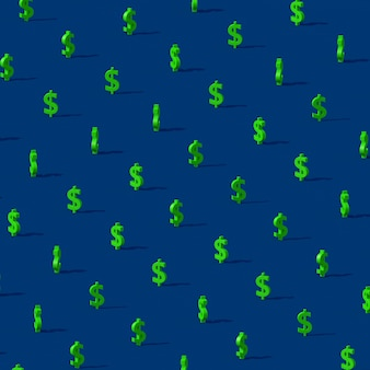 Green dollar sign.  abstract illustration, 3d render.
