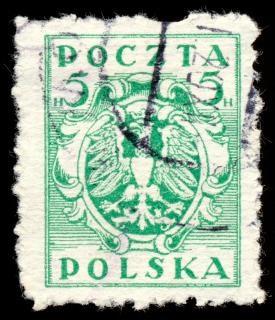 Green eagle crest stamp