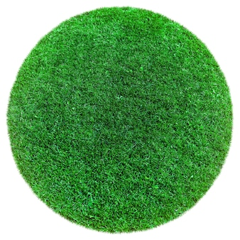 Green earth grass on the white surfaces