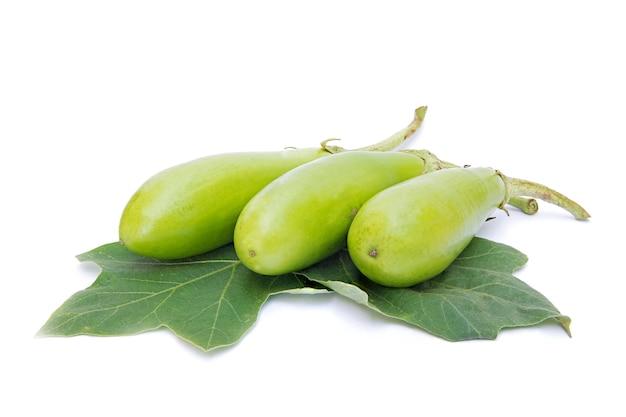 Green eggplant leaves