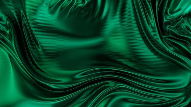 Green emerald wavy cloth fabric abstract