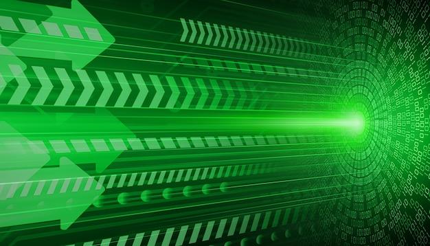 녹색 눈 사이버 회로 미래 기술 개념 배경