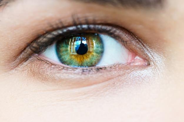 Зеленый глаз девушка макрос
