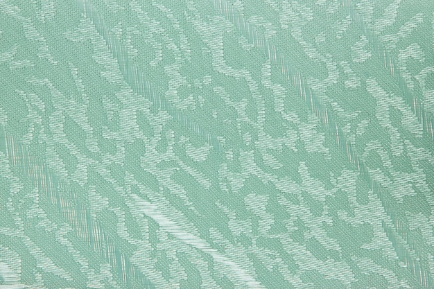 Green fabric blind curtain texture