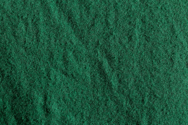 Green fabric cloth polyester texture and textile background.