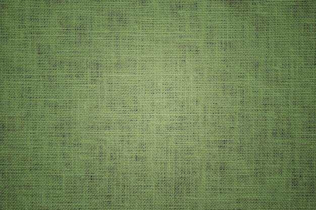 Green fabric linen canvas texture background
