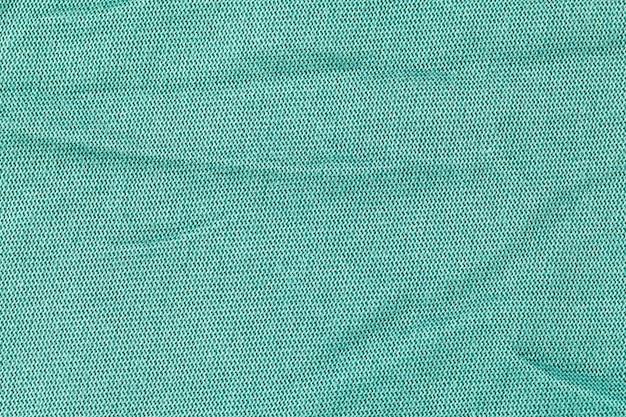 緑の布の質感、布の背景