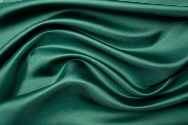 緑の生地の質感