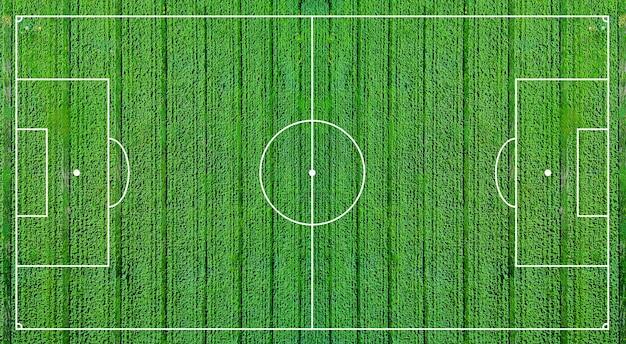 Зеленое футбольное поле футбольное поле иллюстрации узор светло-зеленая трава реалистичный фон вид сверху