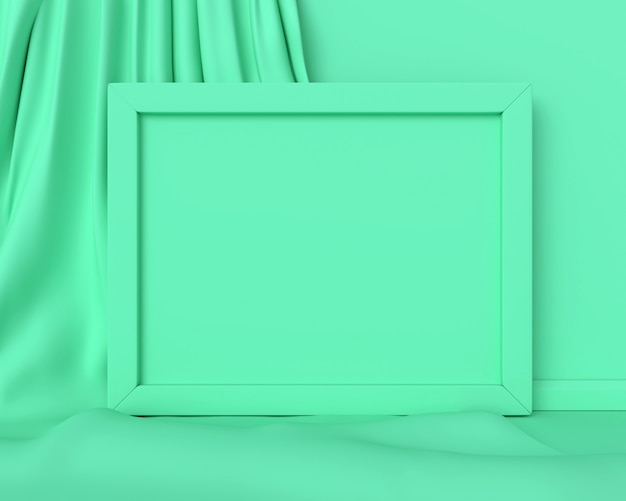 Green frame horizontal. 3d render.