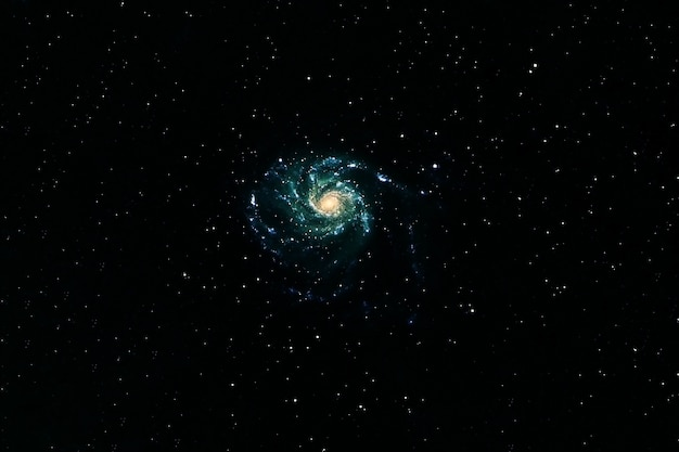 Green galaxy in deep space. elements of this image were furnished by nasa. high quality photo
