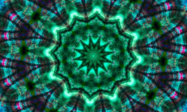 Green geometric design, mosaic of a kaleidoscope, abstract mosaic background, colorful futuristic background, geometric pattern.