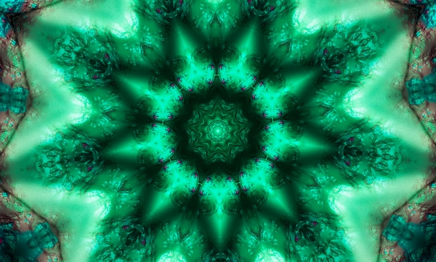 Green geometric design, mosaic of a kaleidoscope, abstract mosaic background, colorful futuristic background, geometric pattern