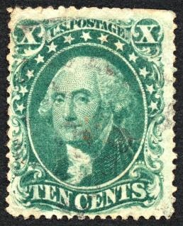 Green george washington stamp  historic