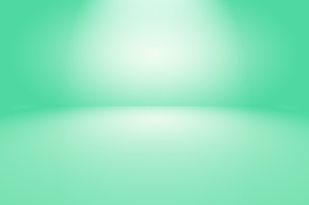 텍스트와 그림에 대 한 공간을 가진 녹색 그라데이션 추상적 인 배경 빈 방