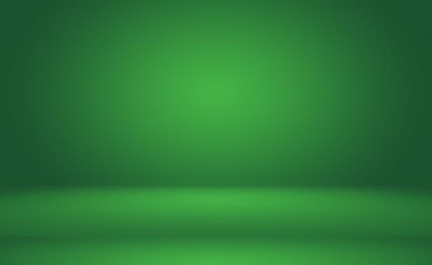 Sfondo astratto sfumato verde stanza vuota con spazio per il testo e l'immagine