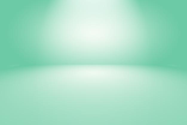 Зеленый градиент абстрактного фона пустая комната с пространством.