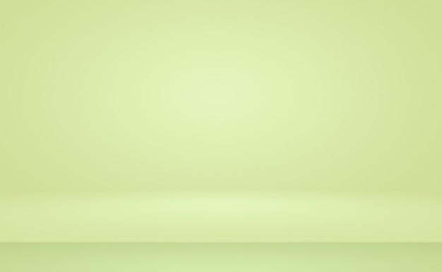 緑のグラデーションの抽象的な背景スペースと空の部屋