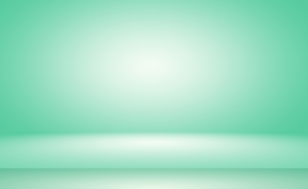 Green gradient abstract background empty room