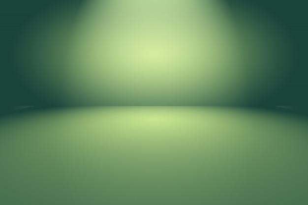 緑のグラデーションの抽象的な空の部屋
