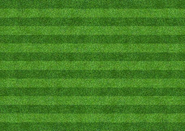 サッカーとフットボールのスポーツのための緑の芝生フィールドの背景。緑の芝生のパターンとテクスチャ背景。閉じる。