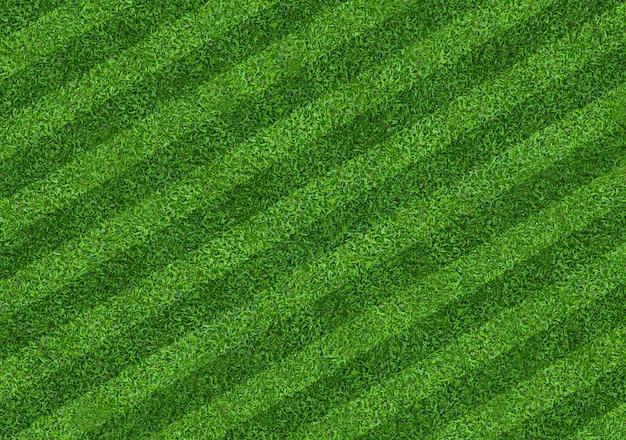 サッカーとフットボールのスポーツのための緑の芝生フィールドの背景。緑の芝生テクスチャ背景。閉じる。