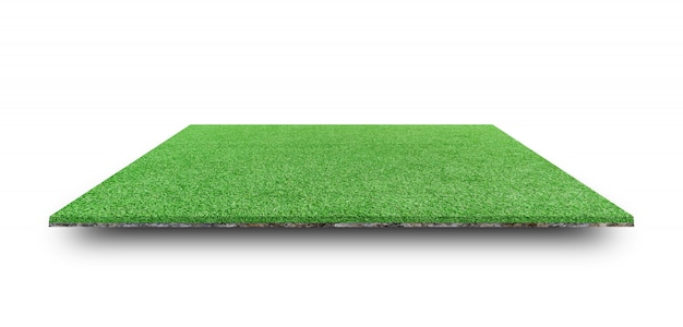 Green grass field isolated. Premium Photo