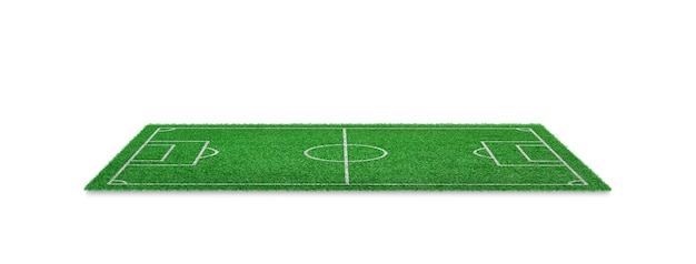 Green grass football field isolated. soccer field for sport game