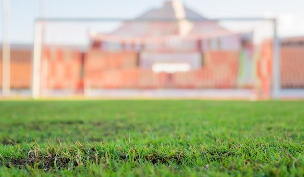 サッカースタジアムの緑の草