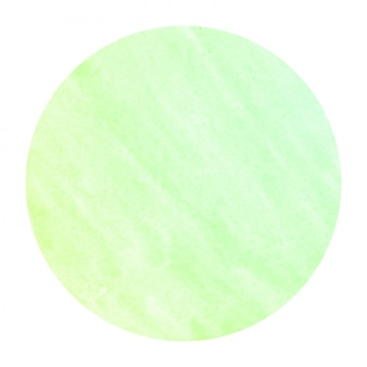 Green hand drawn watercolor circular frame