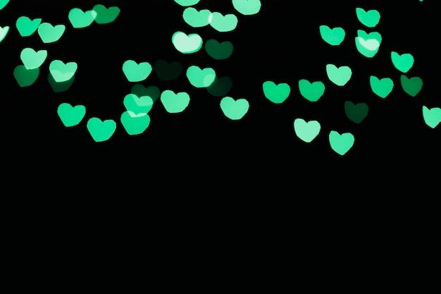 Green heart-shaped lights