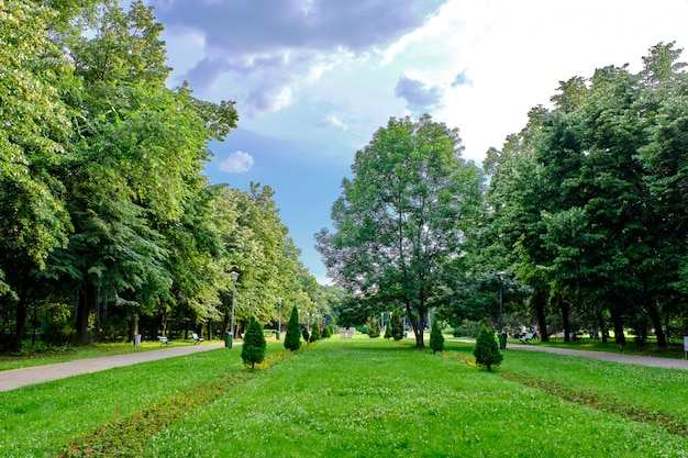 Green herastrau park in bucuresti, romania