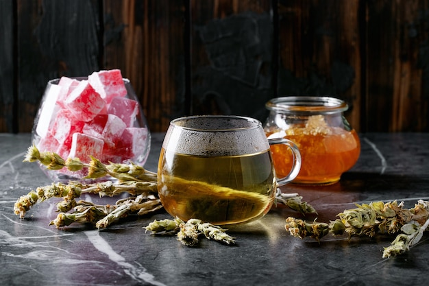 Green herbal greek mountain tea