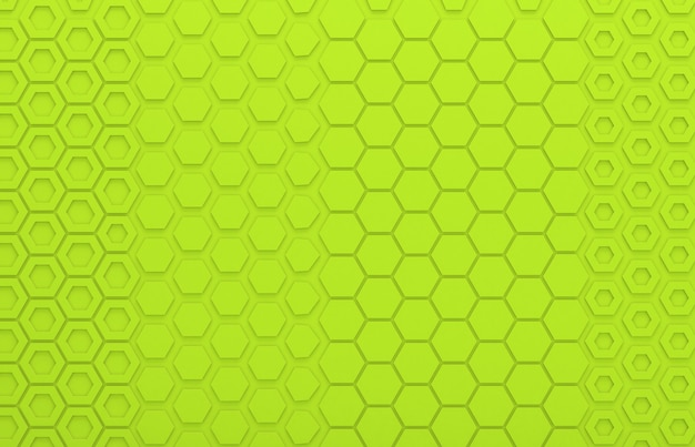 Green hexagon graphic wall for background