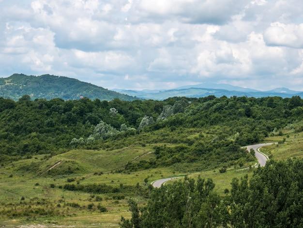Green hill landscape