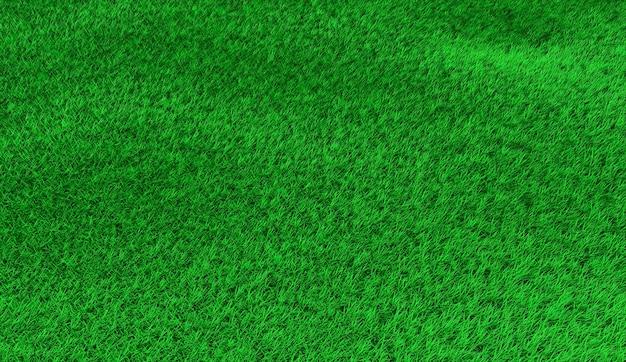 小さなハンモックの緑の丘陵の芝生。 3dイラスト