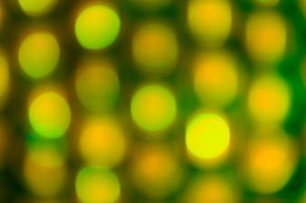 Зеленый праздник боке. Абстрактный фон