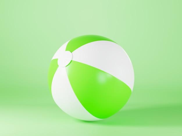 스포츠 게임 여름 3d 렌더링 그림을 위한 녹색 풍선 비치 볼 모형 빛 구 장난감